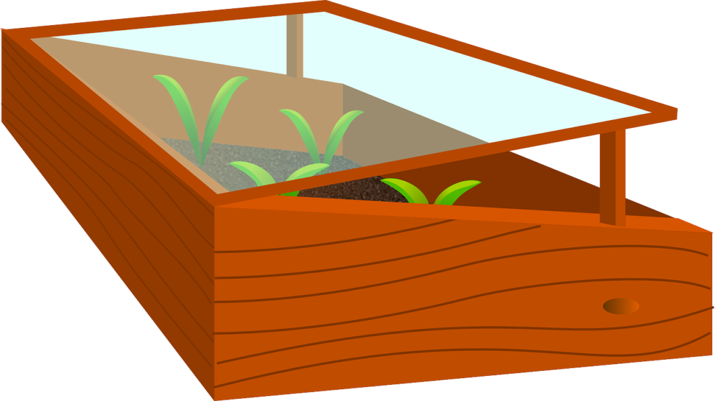 Pic art wooden cold frame